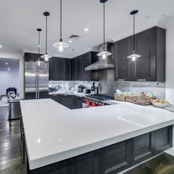 Avenues kitchen dark cabinets square